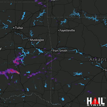 Hail Map Mcalester, OK 07-31-2020