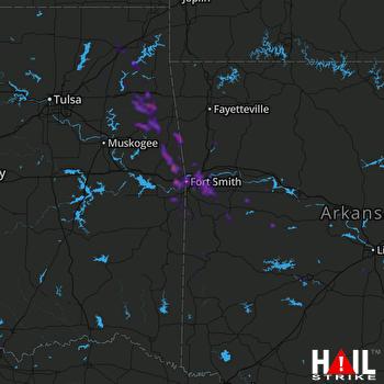 Hail Map Van Buren, AR 08-14-2020