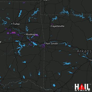 Hail Map Springdale, AR 08-31-2020