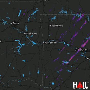 Hail Map Morrilton, AR 03-30-2017