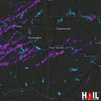 Hail Map Tulsa, OK 04-26-2017