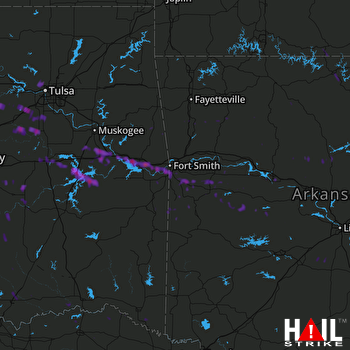 Hail Map Sallisaw, OK 07-01-2017