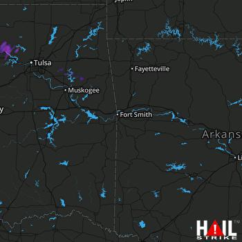 Hail Map Hominy, OK 07-04-2017
