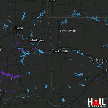 Hail Map Gore, OK 07-04-2017