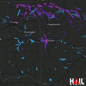 Hail Map Branson, MO 07-08-2017
