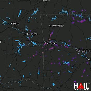 Hail Map Alma, AR 06-08-2018