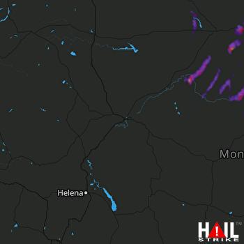 Hail Map Chinook, MT 06-10-2021