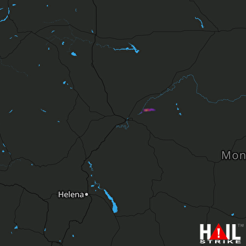 Hail Map GREAT FALLS 06-28-2017