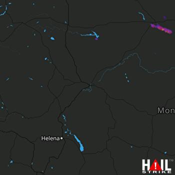 Hail Map Havre, MT 07-11-2017