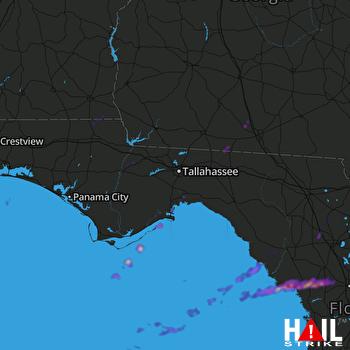 Hail Map Panacea, FL 02-06-2021