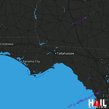 Hail Map Old Town, FL 02-07-2021