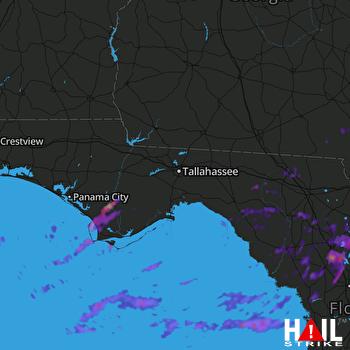 Hail Map Wewahitchka, FL 04-04-2017