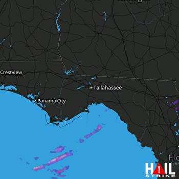 Hail Map Lawtey, FL 04-10-2018