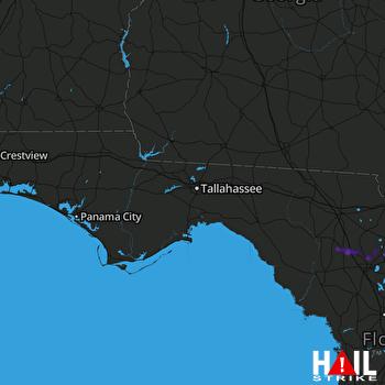 Hail Map High Springs, FL 06-04-2018