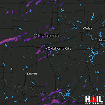 Hail Map Oklahoma City, OK 04-18-2019
