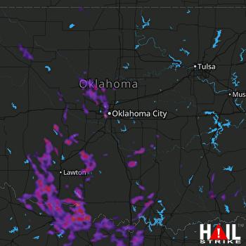 Hail Map Oklahoma City, OK 06-21-2020