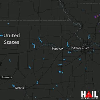 Hail Map TOPEKA 04-07-2019