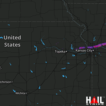 Hail Map Liberty, MO 04-28-2019