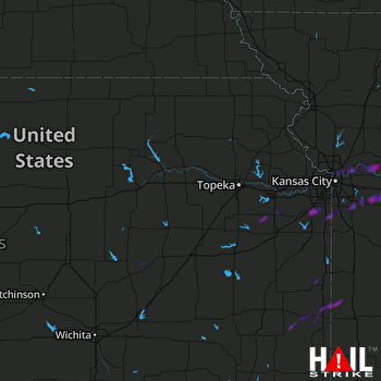 Hail Map Gardner, KS 05-02-2019