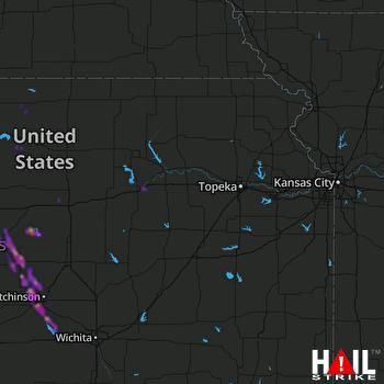 Hail Map Lyons, KS 06-12-2019