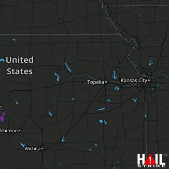 Hail Map Ellinwood, KS 08-21-2019