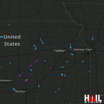 Hail Map Newton, KS 01-10-2020