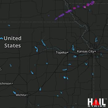 Hail Map Hopkins, MO 03-28-2020