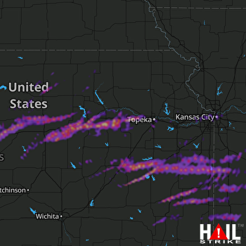 Hail Map Salina, KS 05-04-2020