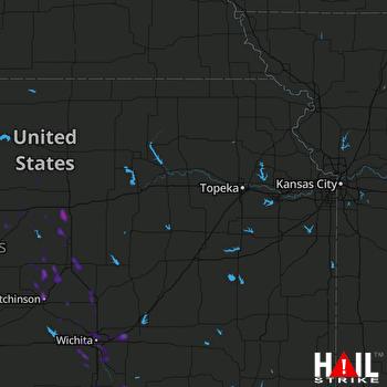Hail Map Salina, KS 07-26-2021