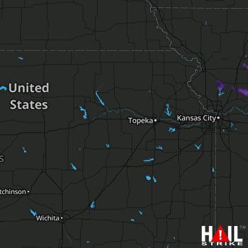 Hail Map Richmond, MO 08-25-2021