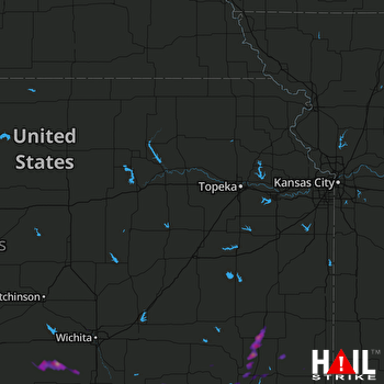 Hail Map Coffeyville, KS 05-11-2017