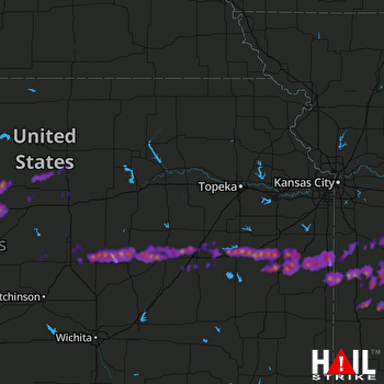 Hail Map Clinton, MO 05-26-2017