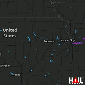 Hail Map Overland Park, KS 06-29-2017