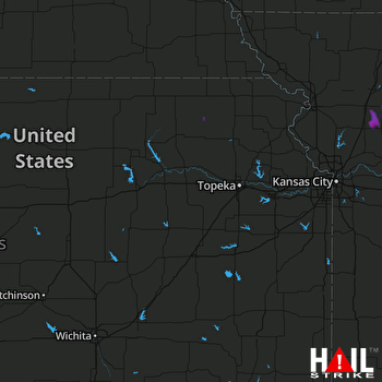 Hail Map Polo, MO 08-03-2017