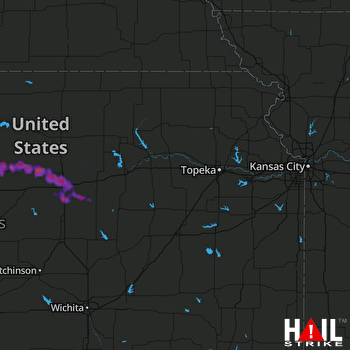 Hail Map Salina, KS 09-18-2017