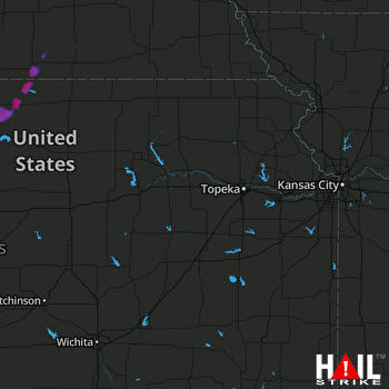 Hail Map Superior, NE 10-03-2017