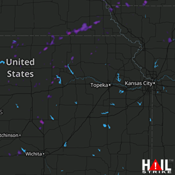 Hail Map Nebraska City, NE 07-14-2018