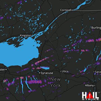 Hail Map Auburn, NY 05-18-2017