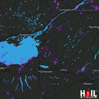 Hail Map Auburn, NY 08-04-2017