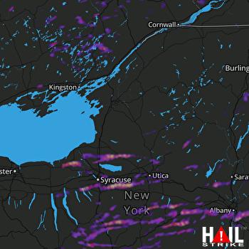 Hail Map Fulton, NY 08-12-2017