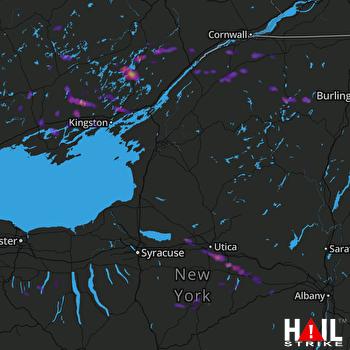 Hail Map Utica, NY 08-15-2017