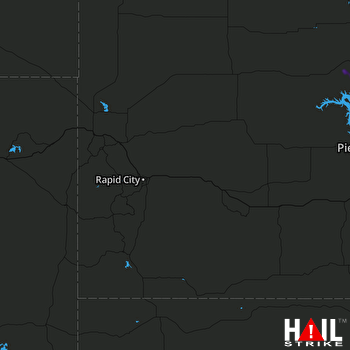 Hail Map Onida, SD 09-10-2018