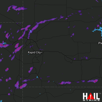 Hail Map Moorcroft, WY 07-17-2019