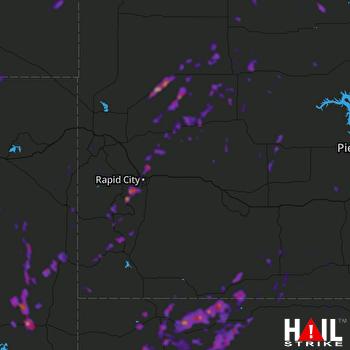Hail Map Black Hawk, SD 09-21-2019