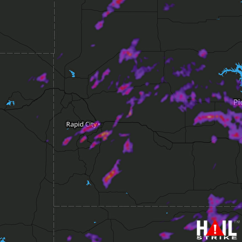 Hail Map Black Hawk, SD 07-03-2020