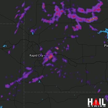 Hail Map Box Elder, SD 06-09-2021