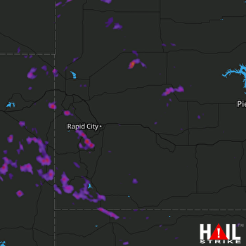 Hail Map Hill City, SD 06-06-2017