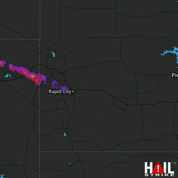 Hail Map Sundance, WY 07-12-2017