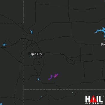 Hail Map RAPID CITY 07-19-2017