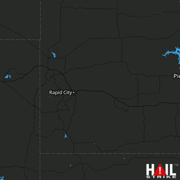 Hail Map RAPID CITY 08-12-2017